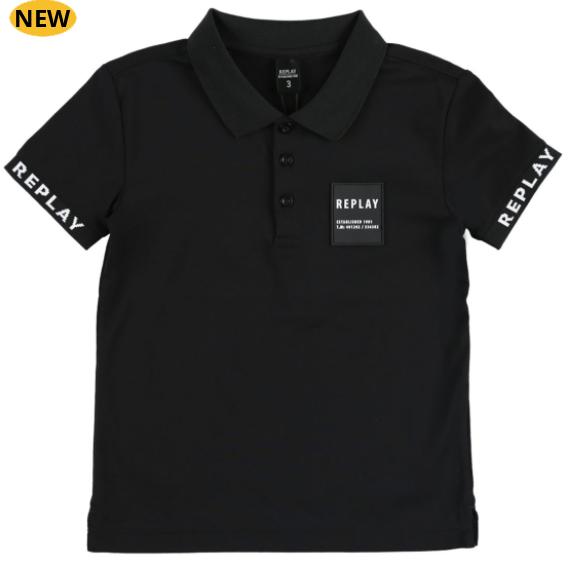 חולצת REPLAY לילדים (מידות 16-3 שנים) לוגו ריבוע